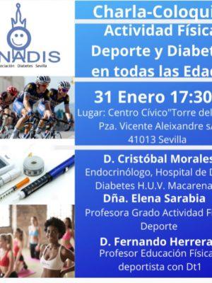 Nuevo taller: Charla coloquio Actividad física, Deporte y Diabetes