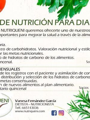 Plan de nutrición para diabéticos