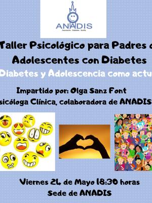 """TALLER DIABETES Y ADOLESCENCIA """"TE AYUDAMOS CON TUS DUDAS"""""""
